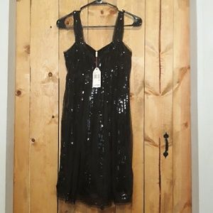 M.s.s.p sequin little black dress